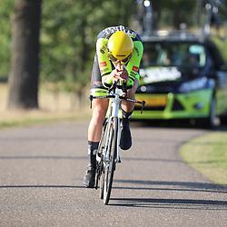 13-09-2020: Wielrennen: NK tijdrijden: Chaam<br />Lou van Belle (Zoetermeer) pakt de titel bij de junioren