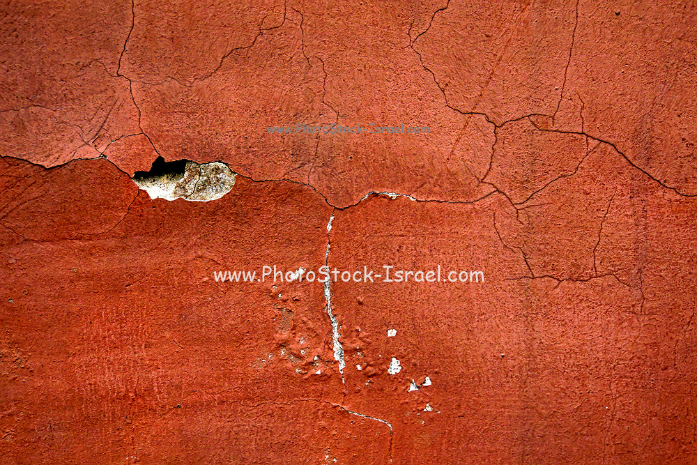 old crack red wall background