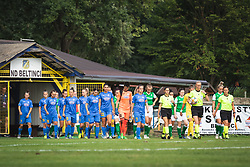 Players of both teams going on pitch before football match between ZNK Pomurje and FC Hibernian in 3nd Round of UWCL qualifying 2019/20, on Avgust 13, 2019 in Sportni Park Beltinci, Beltinci, Slovenia. Photo by Blaž Weindorfer / Sportida