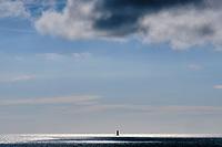 France, Manche (50), Blainville-sur-Mer, phare du Sénéquet // France, Normandy, Manche department, Blainville-sur-Mer, Sénéquet lighthouse