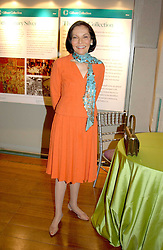 JUDITH PRICE President of the National Jewellery Institute in the USA at a reception to view the newly opened exhibition 'Masterpieces of American Jewellery' at The Gilbert Collection, Somerset House, London on 14th February 2005.<br />