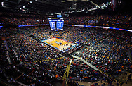 Colgate fans cheer on as Colgate takes on the University of Tennessee in the first round of the NCAA Tournament at the Nationwide Arena, March 22, 2019 in Columbus, OH. Tennessee won 77-70.<br /> [Mark DiOrio / Colgate University]