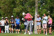 Tyrrell Hatton (ENG) on the 4th tee during Round 2 of the Omega Dubai Desert Classic, Emirates Golf Club, Dubai,  United Arab Emirates. 25/01/2019<br /> Picture: Golffile | Thos Caffrey<br /> <br /> <br /> All photo usage must carry mandatory copyright credit (© Golffile | Thos Caffrey)