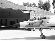 Israeli Air Force Dassault Mirage IIICJ fighter plane on the ground during maintenance - Archival Black and white Image ..