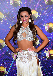 Amy Dowden arriving at the red carpet launch of Strictly Come Dancing 2019, held at BBC TV Centre in London, UK.