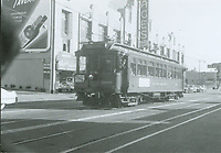 1953 Streetcar in front of the Pantages Theater