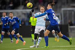 Lucas Haren (FC Helsingør) og Kevin Höög Jansson (Fremad Amager) under træningskampen mellem FC Helsingør og Fremad Amager den 18. januar 2020 på Helsingør Ny Stadion (Foto: Claus Birch)
