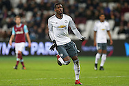 Paul Pogba of Manchester United in action. Premier league match, West Ham Utd v Manchester Utd at the London Stadium, Queen Elizabeth Olympic Park in London on Monday 2nd January 2017.<br /> pic by John Patrick Fletcher, Andrew Orchard sports photography.