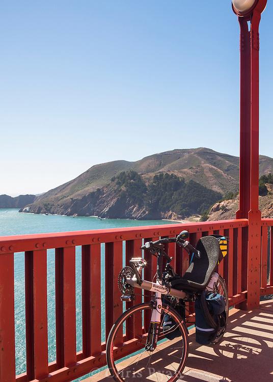 Recumbent on the Golden Gate Bridge, San Francisco, California