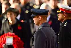 The Duke of Cambridge during the remembrance service at the Cenotaph memorial in Whitehall, central London, on the 100th anniversary of the signing of the Armistice which marked the end of the First World War.