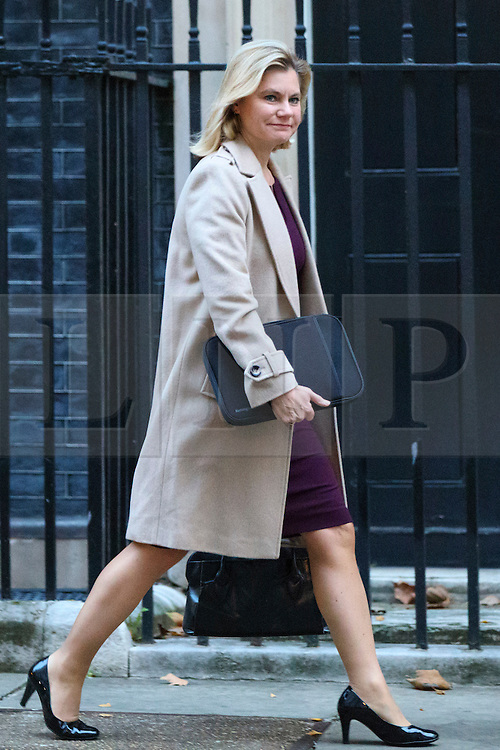© Licensed to London News Pictures. 23/11/2016. London, UK. Education Secretary JUSTINE GREENING attends a cabinet meeting in Downing Street before the autumn statement announment on Wednesday, 23 November 2016. Photo credit: Tolga Akmen/LNP