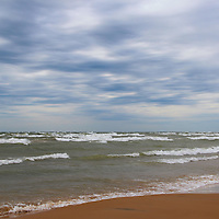 """""""They Came Crashing""""<br /> <br /> Beautiful strong waves come crashing into the shore along Lake Michigan in the Upper Peninsula!!<br /> <br /> The Great Lakes by Rachel Cohen"""