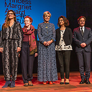 NLD/Amsterdam/20191002 - Laurentien bij ECF Princess Margriet Award for Culture, Prinses Laurentien met de Laureaten 2019 ECF Princess Margriet Award for Culture are Ahdaf Soueif (Cairo/London) & City of Women (Ljubljana).