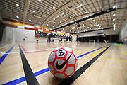 Players warm up before the Mens Futsal Superleague match, Central v Capital, Pettigrew Green Arena, Napier, Saturday, September 28, 2019. Copyright photo: Kerry Marshall / www.photosport.nz