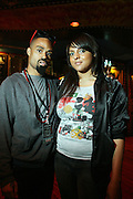 l to r: Bilal and Marsha Ambrosius at Common's Start the Show n' Bowl benefiting The Common Ground Foundation held at Hotel Sax on September 26, 2008 in Chicago, IL