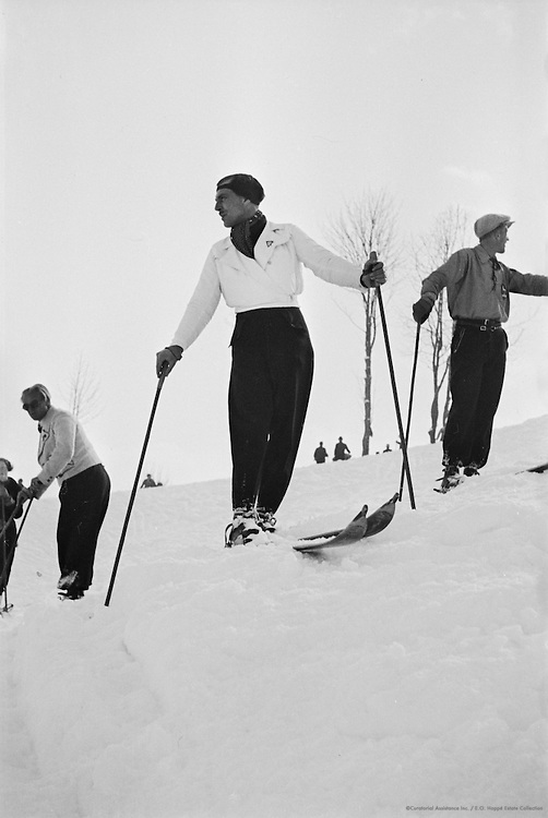Skiers, Kitzbühel, Austria, 1935