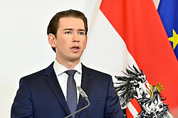 24.03.2020, Bundeskanzleramt, Wien, AUT, Coronaviruskrise, Österreich, Pressekonferenz, Aktuelles zum Coronavirus, im Bild Bundeskanzler Sebastian Kurz (ÖVP) // during a press conference of Austrian Goverment about the Coronavirus Pandemie at the Bundeskanzleramt in Wien, Austria on 2020/03/24. EXPA Pictures © 2020, PhotoCredit: EXPA/ Hans Punz/APA-POOL