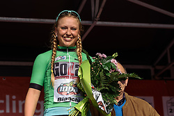 Sara Olsson's attacking sees her pick up the Lotto Cycling Cup sprint jersey - Grand Prix de Dottignies 2016. A 117km road race starting and finishing in Dottignies, Belgium on April 4th 2016.