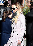 New York, New York, United States - <br /> Actress Jennifer Lawrence wears a trenchcoat and sunglasses as she leaves a downtown hotel <br /> ©Exclusivepix Media