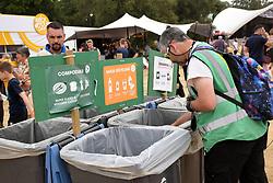 Latitude Festival, Henham Park, Suffolk, UK July 2018. Waste & recycling collectors