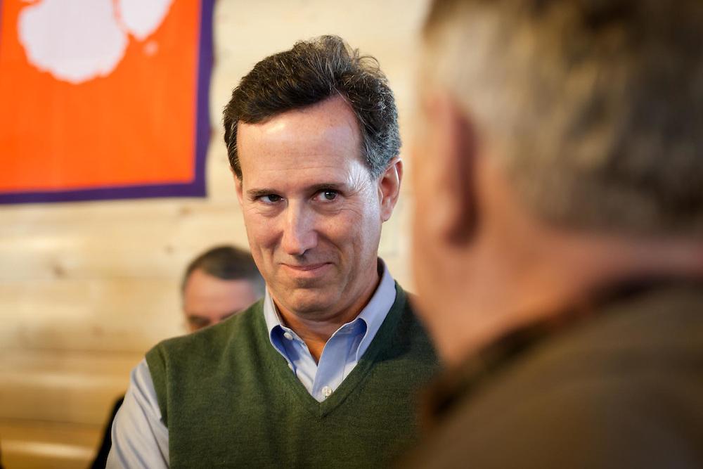 Rick Santorum Stumps In Gaffney, South Carolina.