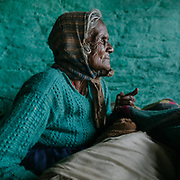 Radhika is in her late 80's. She is not able to walk since a couple of years. She still lives at home, watched over by her grand-son.