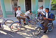 School kids at Punta Gorda in Cienfuegos, Cuba.