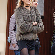 NLD/Laren/20151220 - Romee Strijd met vriendin en haar schoonzus Carlijn van Leeuwen,                                                                Victoria Secret model Romee Strijd in her home country the Netherlands for the holidays with a friend en her sister in law Carlijn van Leeuwen