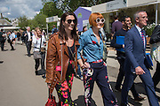 MELANIE RICKEY; MARY PORTAS, Press view of the 2016 RHS  Chelsea Flower Show,  London.