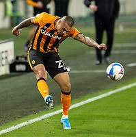 Hull City's Josh Magennis<br /> <br /> Photographer Alex Dodd/CameraSport<br /> <br /> The EFL Sky Bet League One - Hull City v AFC Wimbledon - Tuesday  20th October 2020 - KCOM Stadium - Kingston upon Hull<br /> <br /> World Copyright © 2020 CameraSport. All rights reserved. 43 Linden Ave. Countesthorpe. Leicester. England. LE8 5PG - Tel: +44 (0) 116 277 4147 - admin@camerasport.com - www.camerasport.com