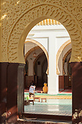 Bas relief on arch of mosque in the old town, Casablanca, Morocco
