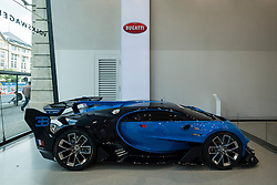 Bugatti Veyron vision Gran truism GT6 concept car on display at Volkswagen Drive Forum showroom in Berlin Germany