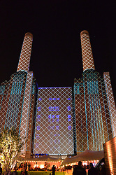Atmosphere at the Battersea Power Station Annual Party at Battersea Power Station, 188 Kirtling Street, London SW8 on 30th April 2014.