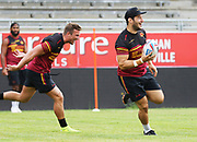 Picture by Laurent Selles/Catalans Dragons/via SWpix.com - 10/07/2020 Rugby League Betfred Super League 2020<br /> Back in training. Catalans Dragons' Josh Drinkwater & Jason Baitieri were back in training today at Stade Gilbert Brutus, Perpignan - France after the long lay off due to Coronavirus Covid 19 Pandemic
