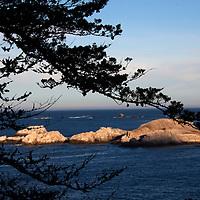 USA, California. Carmel by the Sea Coast view on Pacific Coast Highway 1.