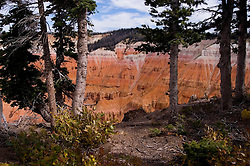 Cedar Breaks National Monument, Utah, UT,view, vista from Point Supreme, nature, landscape, erosion, Image ut301-17444, Photo copyright: Lee Foster, www.fostertravel.com, lee@fostertravel.com, 510-549-2202