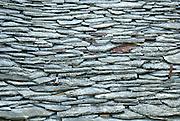 Traditional stone roofing material, Racisce, island of Korcula, Croatia