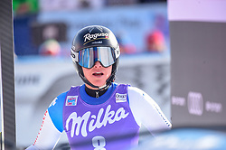 19.01.2019, Olympia delle Tofane, Cortina d Ampezzo, ITA, FIS Weltcup Ski Alpin, Abfahrt, Damen, im Bild Lara Gut-Behrami (SUI) // Lara Gut-Behrami of Switzerland reacts after her run in the ladie's Downhill of FIS ski alpine world cup at the Olympia delle Tofane in Cortina d Ampezzo, Italy on 2019/01/19. EXPA Pictures © 2019, PhotoCredit: EXPA/ Erich Spiess