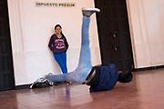 Breakdancers in the street, San Cristobal de las Casas, Chiapas, Mexico.