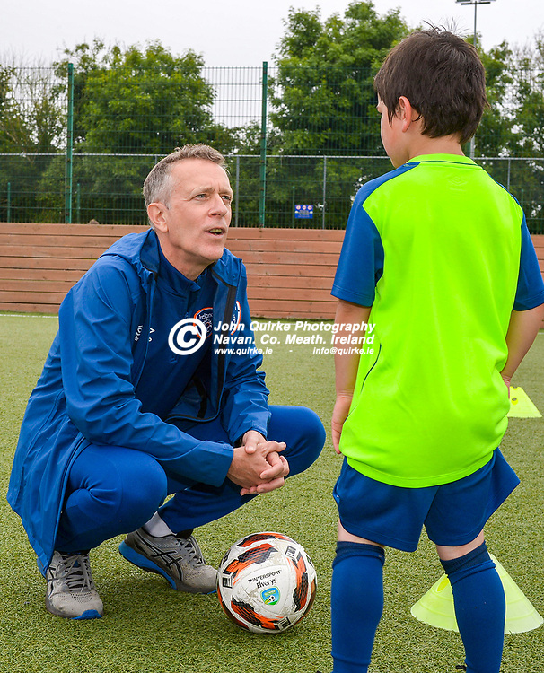 Jonathan Hill, FAI Chief Executive Officer, answers some questions from Ryan Heaney,  at the FAI Summer Soccer Schools at MDL, Navan.<br /> <br /> Photo: GERRY SHANAHAN-WWW.QUIRKE.IE<br /> <br /> 01-07-2021
