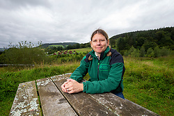 26AUG20 Katie Jarvis, Area Visitor Services Manager. Graham Mann at Glentress Mountain Bike Centre for an article about the lockdown-linked upsurge in cycling and related matters like bike theft and the use of electric bikes.