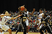 during their state semifinal game Friday, March 11, 2016 at the Alamodome in San Antonio. Houston Math Science and Technology lost to Humble Atascocita 78-67. Photo©Bahram Mark Sobhani