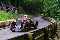 Boness Revival hillclimb motorsport event in Boness, Scotland, UK. The 2019 Bo'ness Revival Classic and Hillclimb, Scotland's first purpose-built motorsport venue, it marked 60 years since double Formula 1 World Champion Jim Clark competed here.  It took place Saturday 31 August and Sunday 1 September 2019. 11 Ian Goddard MG PA PB