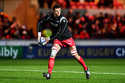 Scarlets' Aaron Shingler during the pre match warm up<br /> <br /> Photographer Craig Thomas/Replay Images<br /> <br /> European Rugby Champions Cup Round 5 - Scarlets v Toulon - Saturday 20th January 2018 - Parc Y Scarlets - Llanelli<br /> <br /> World Copyright © Replay Images . All rights reserved. info@replayimages.co.uk - http://replayimages.co.uk