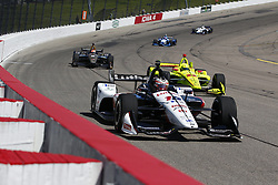 July 7, 2018 - Newton, Iowa, United States of America - GRAHAM RAHAL (15) of the United States takes to the track to practice for the Iowa Corn 300 at Iowa Speedway in Newton, Iowa. (Credit Image: © Justin R. Noe Asp Inc/ASP via ZUMA Wire)