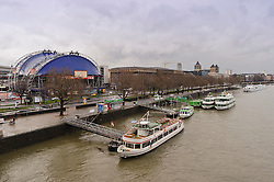 Cologne, Germany, Jan. 2012 -  View of the Rhein River from the Hohenzollern Bridge, in Cologne, Germany. (Photo © Jock Fistick).