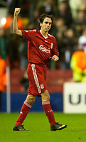 Fotball<br /> England<br /> Foto: Propaganda/Digitalsport<br /> NORWAY ONLY<br /> <br /> LIVERPOOL, ENGLAND - Tuesday, October 20, 2009: Liverpool Yossi Benayoun celebrates scoring the openning goal against Olympique Lyon during the UEFA Champions League Group E match at Anfield.