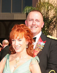 Aug 27, 2006; Los Angeles, CA, USA; Emmys 2006: Comedian KATHY GRIFFIN and guest arriving at the 58th Annual Primetime Emmy Awards, held at the Shrine Auditorium in Los Angeles. Mandatory Credit: Photo by Paul Fenton/ZUMA KPA. (©) Copyright 2006 by Paul Fenton