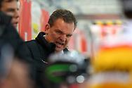 04.April 2012; Rapperswil-Jona; Eishockey - Schweiz - Finnland; Trainer Sean Simpson (SUI)<br />  (Thomas Oswald)