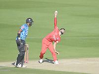 Cricket - 2020 T20 Vitality Blast - Quarter-final - Sussex Sharks vs Lancashire Lightning - County Ground, Hove<br /> <br /> Saqib Mahmood of Lancashire Lightning bowls.<br /> <br /> COLORSPORT/ASHLEY WESTERN
